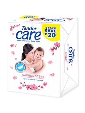 Tender Care Sakura Scent Baby Soap 65g (Pack of 4)
