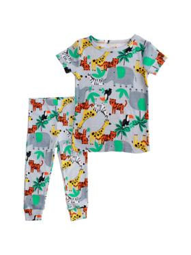 Little Steps 2-Piece Short Sleeves Animal PJs