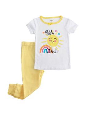 Little Steps 2-Piece Short Sleeves Sun PJs
