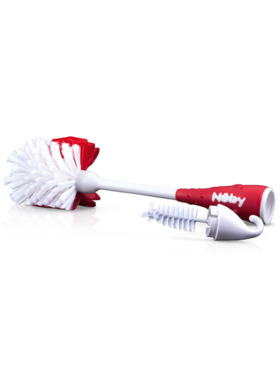 Nuby 2-in-1 Bottle and Nipple Cleaning Brush with Hook Base