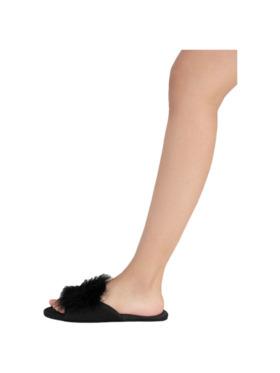Amelia Sleepwear Audrey Satin with Feathers Slip-On