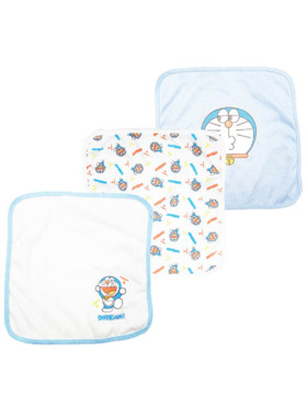 Doraemon Baby Blare Collection Washcloth 3pcs (Boy)
