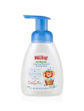 Nuby Citroganix All Natural Baby Foaming Shampoo & Body Wash (250ml)