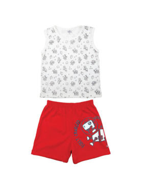 Looms Clay Collection Muscle Shirt and Shorts Terno Set