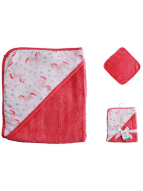 Little Steps Unicorn Hooded Towel and Wash Cloth