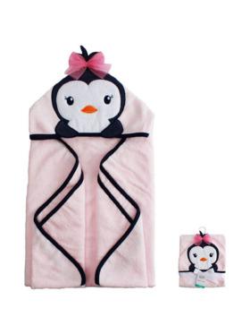 Little Steps Hooded Towel in Penguin