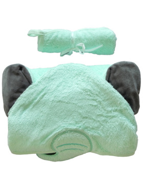 Nuborn.ph Bamboo Hooded Towel with Washcloth Set Elephant