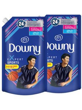 Downy Sports Liquid Laundry Fabric Enhancer 2-Pack Refill (1.38L)