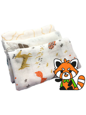 Hankoo Assorted Basic- Lightweight Washcloth (Set of 3)