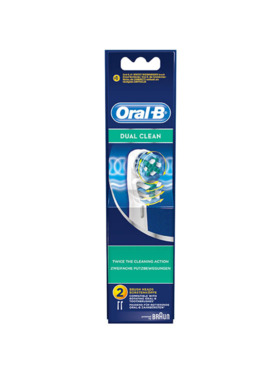 Oral-B Dual Clean Electric Toothbrush Refill (2pcs)