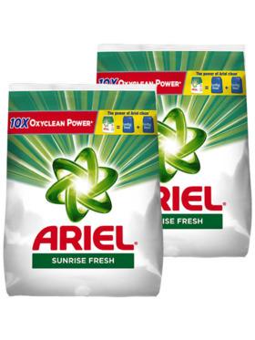 Ariel Sunrise Fresh Laundry Powder Detergent 2-Pack (2.94kg)