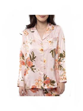 Amelia Sleepwear Caroline Silk Pants Sleepwear Set