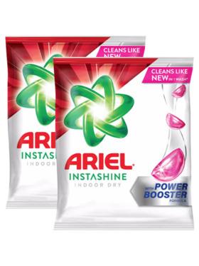 Ariel Instashine Indoor Dry Laundry Powder Detergent 2-Pack (2.01kg)
