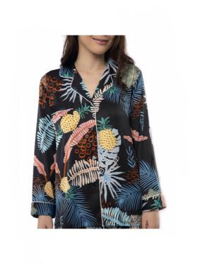 Amelia Sleepwear Isabella Silk Pants Sleepwear Set