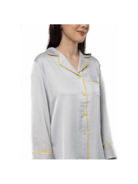 Amelia Sleepwear Violet Silk Pants Sleepwear Set