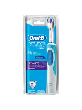 Oral-B Vitality 3D White Electric Toothbrush Bundle (Handle & Refill)
