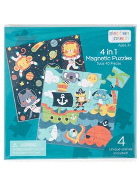 Stephen Joseph 4 in 1 Magnetic Puzzle Book