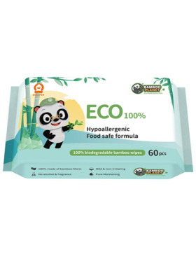 Bamboo Planet Eco-friendly Wet Wipes (60s)
