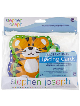 Stephen Joseph Lacing Cards - Zoo