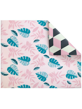 Play WIth Pieces Geo Leaf Reversible Playmat