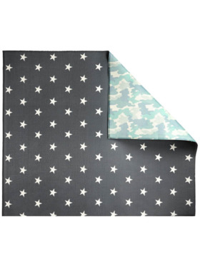 Play WIth Pieces Camo Star Reversible Playmat