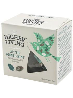Higher Living After Dinner Mint 20 teapees (40g)
