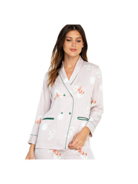 Amelia Sleepwear Brianna Silk Pants Sleepwear Set