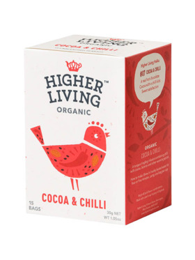 Higher Living Cocoa & Chilli 15 bags (30g)