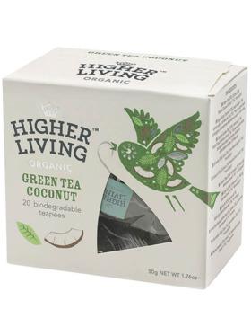 Higher Living Green Tea Coconut 20 teapees (50g)