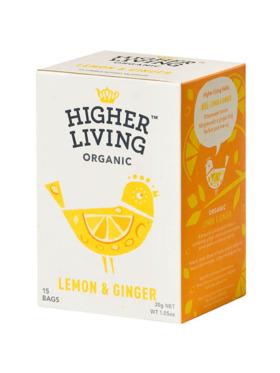 Higher Living Lemon & Ginger 15 bags (30g)