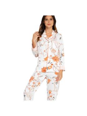 Amelia Sleepwear Margaret Silk Pants Sleepwear Set