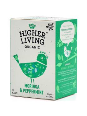 Higher Living Moringa & Peppermint 15 bags (22g)