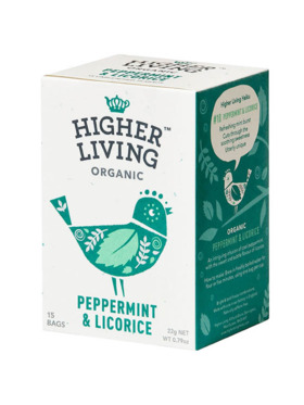 Higher Living Peppermint & Licorice 15 bags (22g)