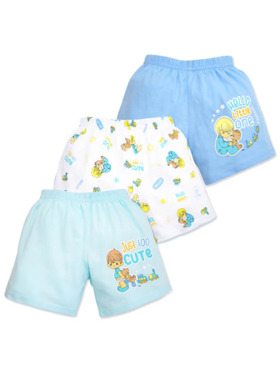 Cotton Stuff Precious Moments Too Cute Collection Shorts 3pc (Boy)