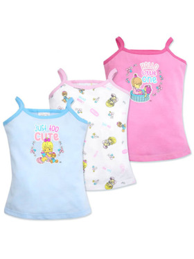 Cotton Stuff Precious Moments Too Cute Collection Strappy Top 3pc (Girl)
