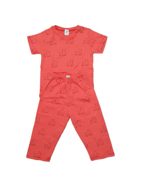 Clovermint Short Sleeves and Pants Kids Set in 100% Cotton