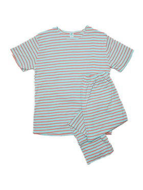 Clovermint Short Sleeves and Pants Set in 100% Cotton