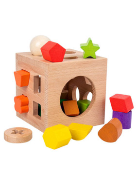 Hungry Hippo PH Wooden Classic Shape Sorter