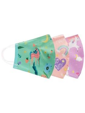 Biofresh Girl Children's Washable Anti-Microbial Printed Face Masks (3pcs)