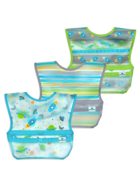 Green Sprouts Snap and Go Wipe-Off Bibs (3 Pack)