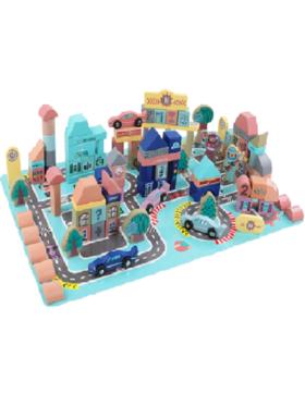 OZM Toy Montessori Wooden Building Blocks (161 pcs)