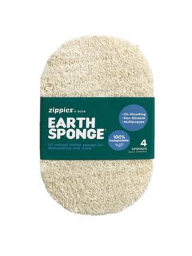 Zippies Earth Sponge Scrubber - Bundle of 4