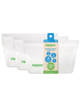 Zippies Original Reusable Stand-up Pouch Medium - Bundle of 3