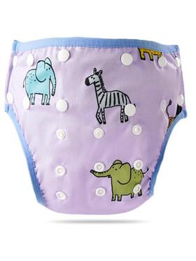Happy Flute Zoo Animals Swimming Diaper