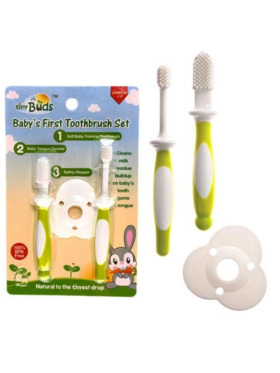 Tiny Buds Baby Toothbrush & Tongue Cleaner Set