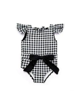 Mommyhugs Black Checkered 1pc for Girls
