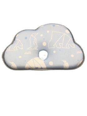 Lily and Tucker Memory Foam Newborn Pillow ( Blue Polar)