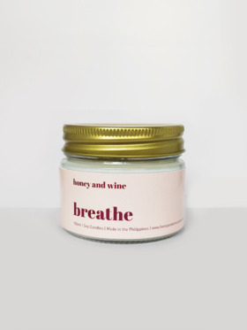 Honey and Wine Breathe Scented Soy Candle (150ml)