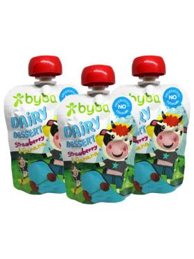 Byba Strawberry Banana Yoghurt 90g (Pack of 3)