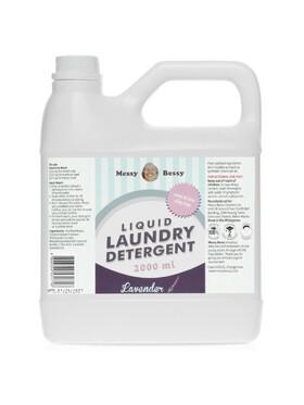 Messy Bessy Natural Liquid Laundry Detergent Lavender Jug